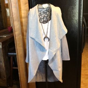 Jackets & Blazers - Gray cardigan/jacket-Sz M,95% polyester & 5% spand